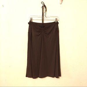 BCBGMAXAZRIA Brown Spaghetti Halter Dress Size Lg